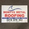 Montys Corflute Sign